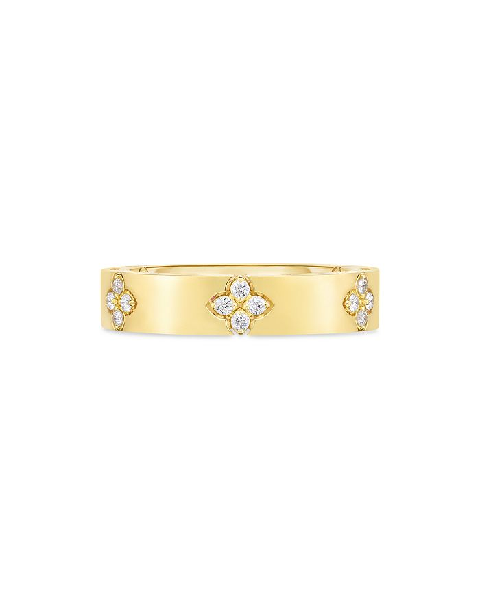 Roberto Coin - 18K Yellow Gold Verona Diamond Flower Ring