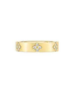Roberto Coin 18K Yellow Gold Verona Diamond Flower Ring-Jewelry & Accessories