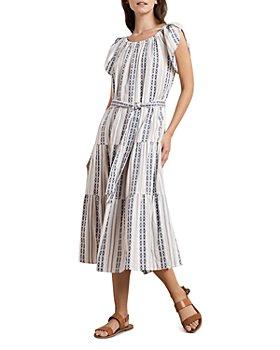Velvet by Graham & Spencer - Tian Cotton Printed Midi Dress