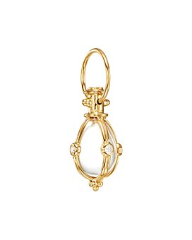 Temple St. Clair - Crystal Diamond Pendant Set In 18 K Yellow Gold, 0.22 ct.