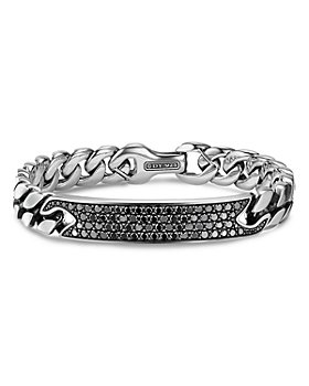 David Yurman - Curb Chain ID Bracelet with Pavé Black Diamonds