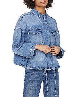 Vero Moda - Drawstring Hem Jean Jacket in Medium Blue