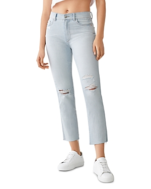 DL1961 Mara Ripped Straight Ankle Jeans in Ross