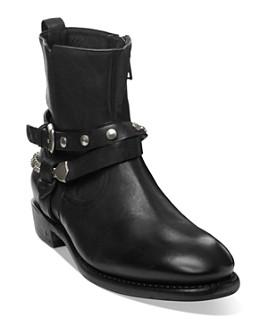 John Varvatos Collection - Men's Heritage Double Belt Leather Boots