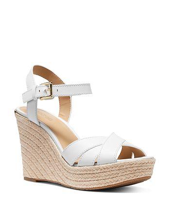 MICHAEL Michael Kors - Women's Suzette Jute Wedge Heel Sandals