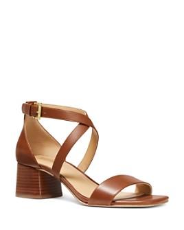 MICHAEL Michael Kors - Women's Diane Cross Strap Mid Heel Sandals