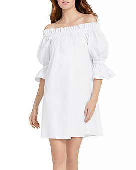 Alice and Olivia - Paola Off The Shoulder Ruffled Tunic Dress