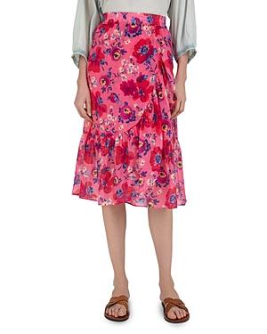 Liccia Floral Print Ruffled Skirt