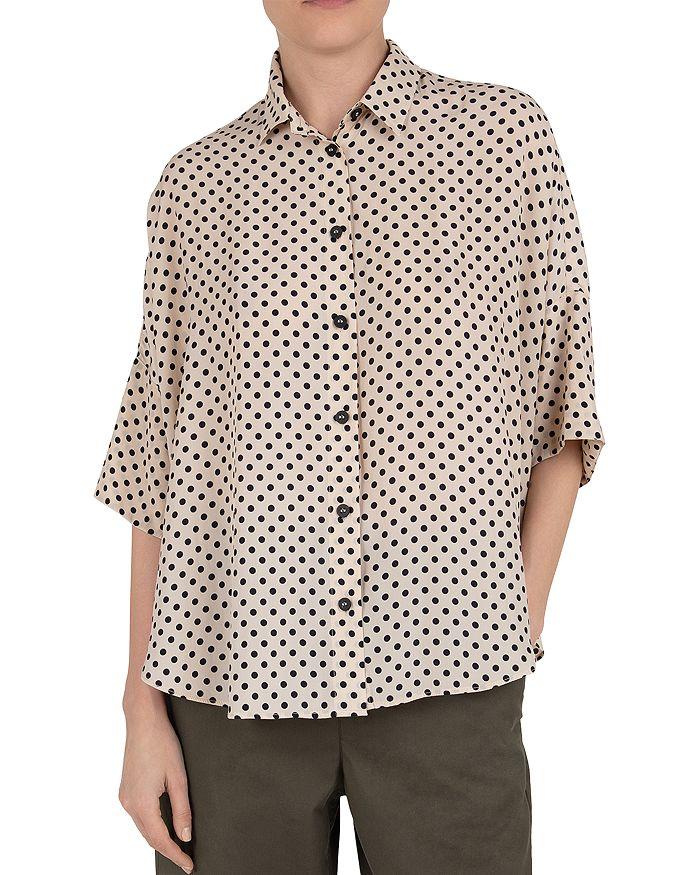Gerard Darel Ninna Dot Print Shirt In White