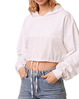 FRENCH CONNECTION - Rusha Cotton Cropped Hoodie