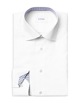 Eton - Cotton Stretch Twill Geometric Contemporary Fit Dress Shirt