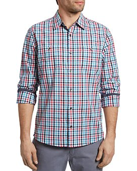 Flag & Anthem - Menard Cotton Check Tailored Athletic Fit Button Down Shirt