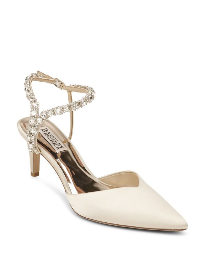 Badgley Mischka Women's Galaxy Pointed Embellished Pumps    Bloomingdale's