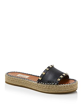 Valentino Garavani - Women's Rockstud Double Espadrille Platform Slide Sandals