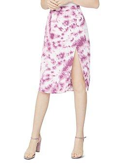 BCBGeneration - Tie Dyed Satin Pencil Skirt