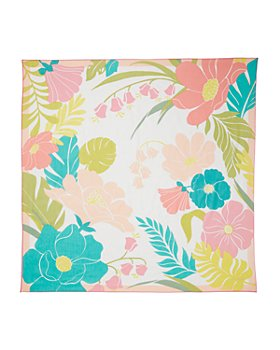 kate spade new york - Tropical Floral Cotton & Silk Square Scarf