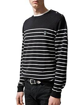 The Kooples - Happy Skull Striped Sweater