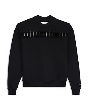 The Kooples Pierced Fleece Sweatshirt