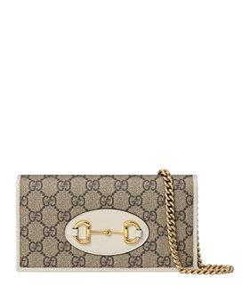 Gucci - 1955 Horsebit GG Canvas Chain Wallet