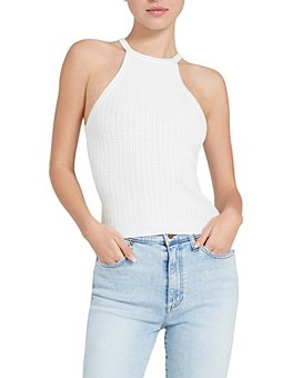 Alice and Olivia - Heidi Pointelle Halter Top