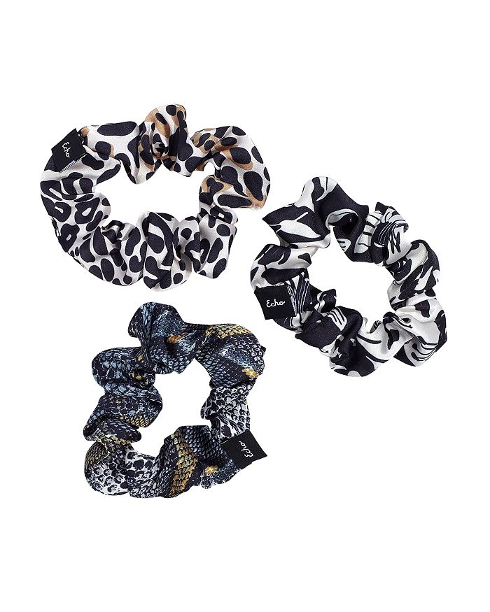 Echo Scrunchies, Set Of 3 In Black