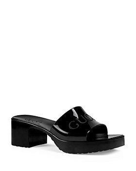 Gucci - Women's Block Heel Platform Slide Sandals