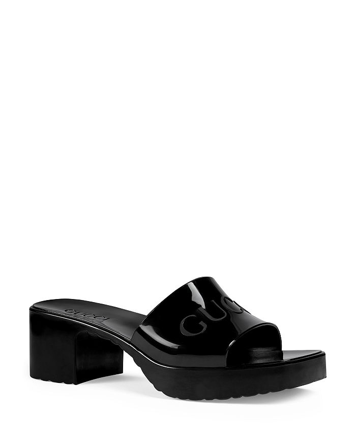 Gucci - Women's Rubber Platform Slide Sandals