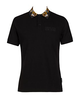 Versace Jeans Couture - Baroque Collar Slim Fit Polo Shirt