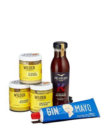 Gin Mayo - Gin Mayo, Wilder Condiments Mustard Trio and De Nigris Balsamic Ketchup