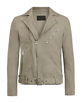 ALLSAINTS - Nubuck Leather Biker Jacket