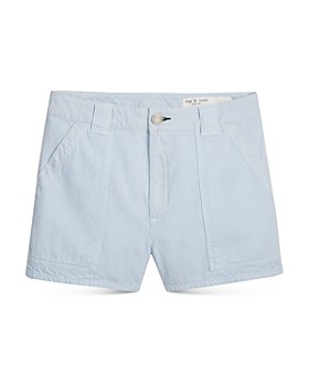 rag & bone - Venice Cotton Slim Fit Shorts in Bay Blue