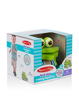 Melissa & Doug - Frolicking Frog Pull Toy- Ages 18 Months+
