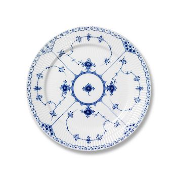 "Royal Copenhagen - ""Blue Fluted Half Lace"" Dinner Plate"