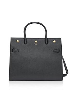 Burberry - Title Medium Leather Shoulder Bag