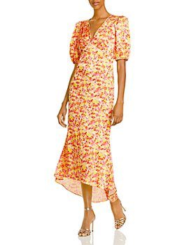 LINI - V Neck Flounce Hem Dress - 100% Exclusive