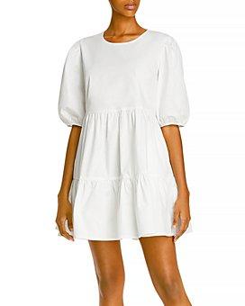 AQUA - Poplin Mini Dress - 100% Exclusive