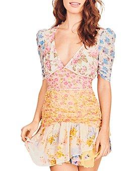 LoveShackFancy - Arlo Silk Mixed Print Dress