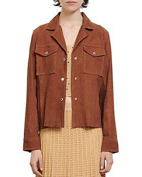 Sandro - Jonhy Suede Shirt Jacket