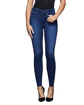 Good American - Raw Edge Skinny Jeans in Blue434