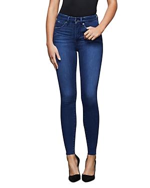 Good American Raw Edge Skinny Jeans in Blue434-Women