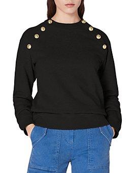 Derek Lam 10 Crosby - Lucie Sailor Button Sweatshirt