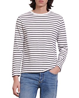 Sandro - Boat Cotton Stripe Long Sleeve Tee