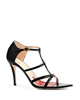 Gucci - Women's Jerry Patent Leather Cage Sandals