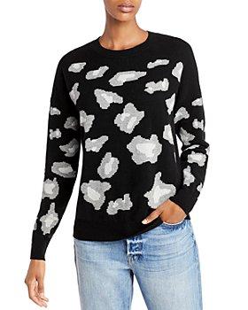 AQUA - Animal Print Cashmere Sweater - 100% Exclusive