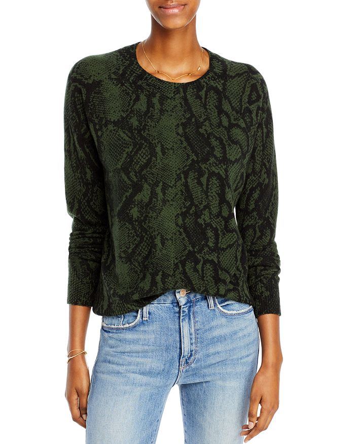 AQUA - Snake Print Cashmere Sweater - 100% Exclusive