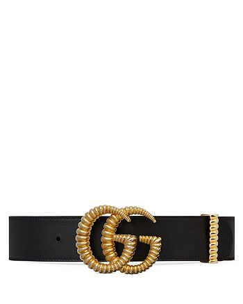 Gucci - Women's Leather Belt with Torchon Double G Buckle