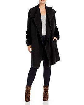 C by Bloomingdale's - Rabbit Fur Trim Cashmere Coat - 100% Exclusive