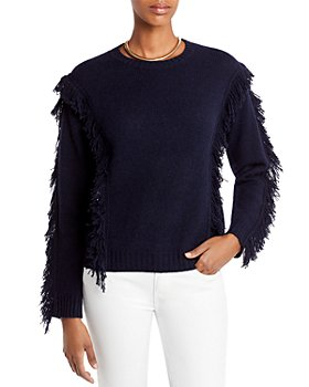 AQUA - Fringe Cashmere Sweater - 100% Exclusive