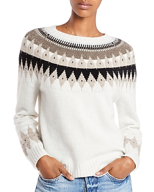 Aqua Cashmere Fair Isle Cashmere Sweater - 100% Exclusive