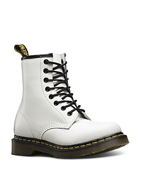 Dr. Martens - Women's 1460 Smooth White Lace Up Boots